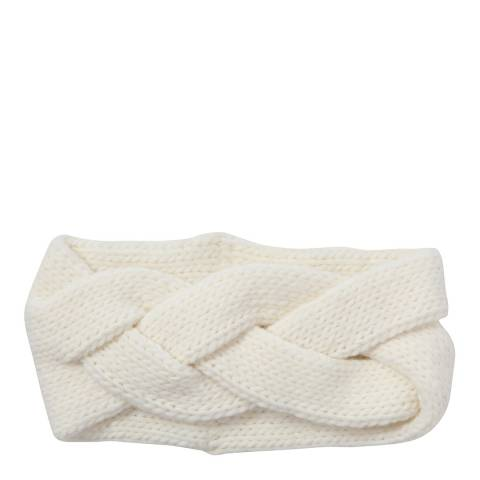 Laycuna London White Chunky Cashmere Blend Head Band