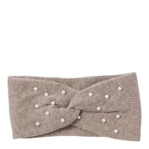 Laycuna London Blush Beaded Cashmere Blend Head Band