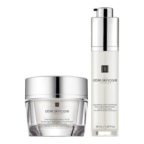 Able Skincare Set of 2 Day and Night Regime Creams