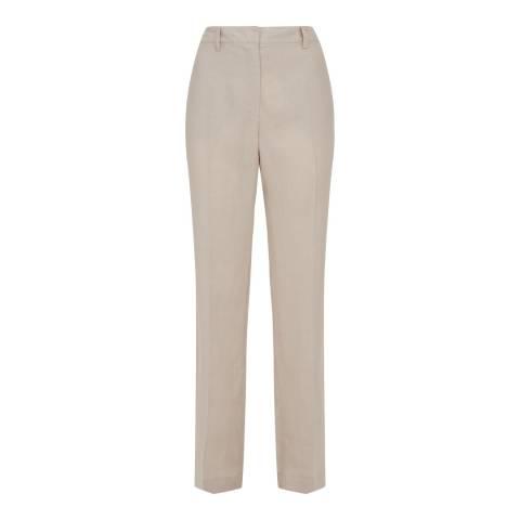 Jaeger Natural Linen Parallel Trousers