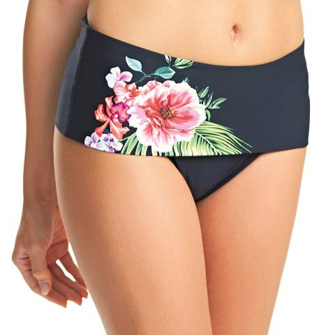 Fantasie Black/Multi Mustique Floral Deep Fold Briefs