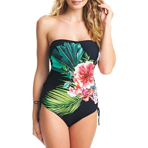 Fantasie Black/Multi Mustique Floral Bandeau Swimsuit
