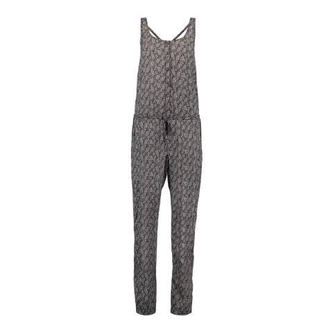 O'Neill Black Leaf Print Jumpsuit