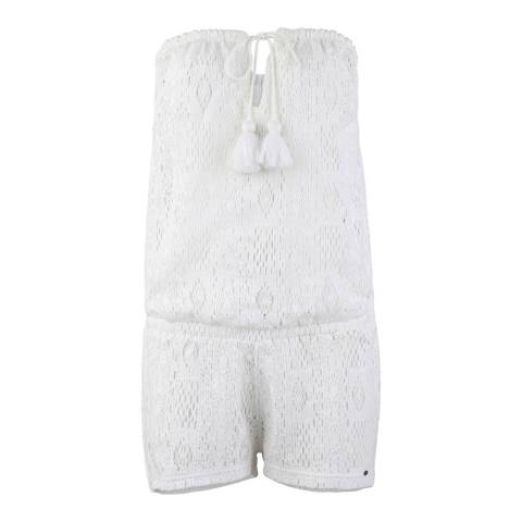 O'Neill White Jaden Cover Up Jumpsuit