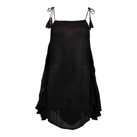 O'Neill Black Embroidered Short Dress