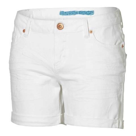 O'Neill White Cotton Endless Denim Walkshorts