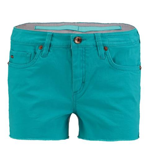 O'Neill Turquoise Cotton Island Shorts