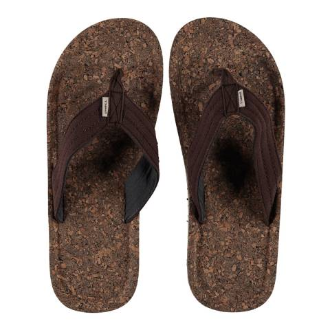 O'Neill Brown Chad Structure Flip Flops
