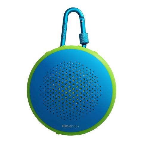 Boompods Blue/Green Bluetooth Multi Function Waterproof Portable Speaker