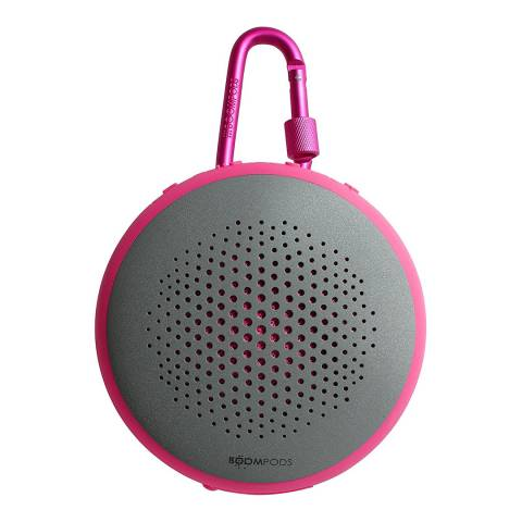 Boompods Grey/Pink Bluetooth Multi Function Waterproof Portable Speaker