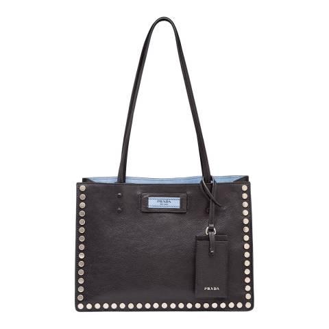 Prada Black Leather Etiquette Handbag