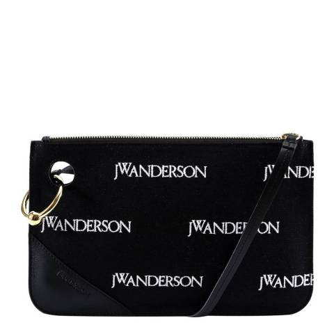 JW Anderson Black Pierce Logo Clutch Bag
