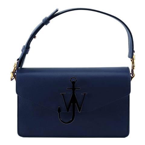 JW Anderson Navy Anchor Logo Shoulder Bag