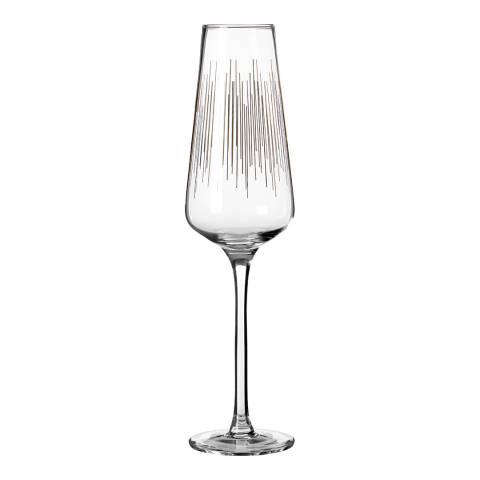 Premier Housewares Set of 4 Gold Deco Hi Ball Glasses, 270ml