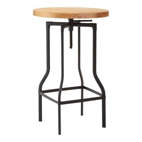 Premier Housewares New Foundry Ash Veneer Bar Table