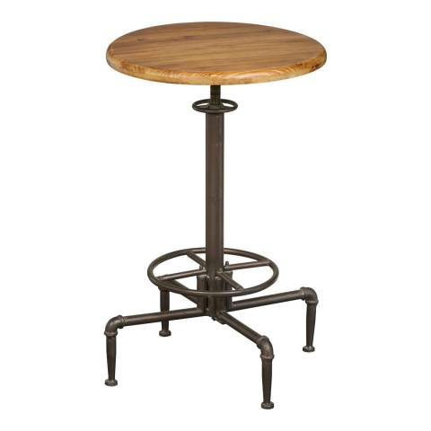 Premier Housewares Foundry Fir Wood Metal Bar Table