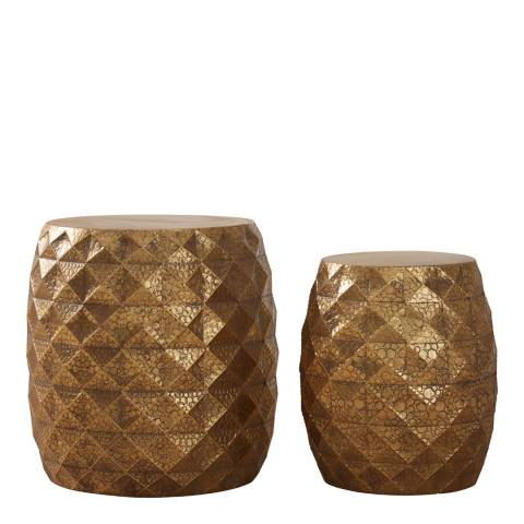 Premier Housewares Reza Multi-Faceted Drum Stools