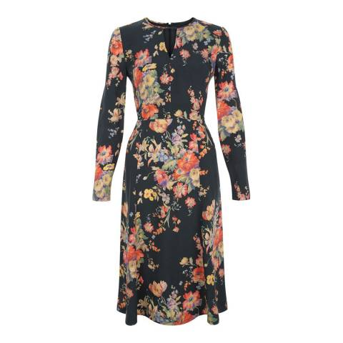 Hobbs London Black/Multi Floral Cecilia Dress