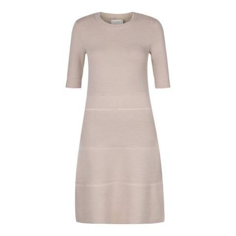 Hobbs London Satin Beige Afia Dress