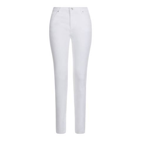 Hobbs London White Marianne Stretch Cotton Jeans