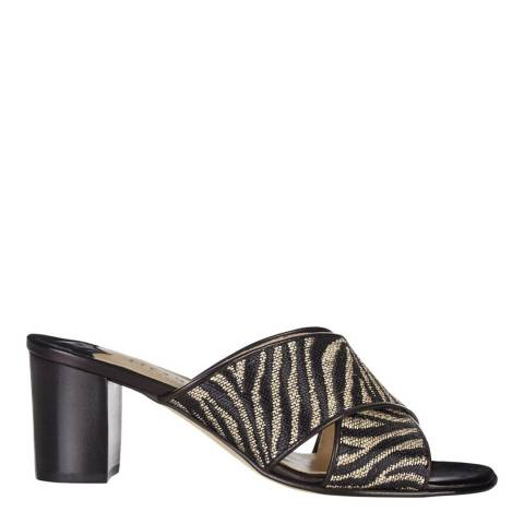 Hobbs London Zebra Print Darcy Cross Over Mule Shoes