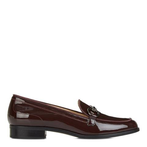 Hobbs London Dark Burgundy Patent Clarence Loafers