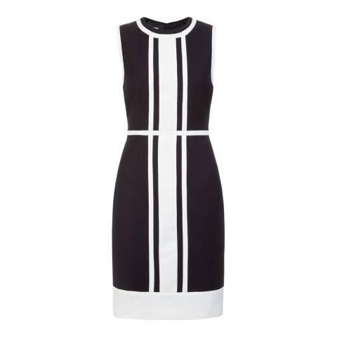 Hobbs London Navy/White Hallie Dress