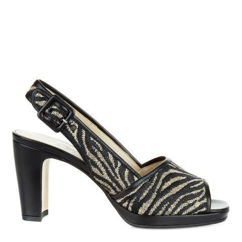 Hobbs London Zebra Print Rebecca Heeled Sandals