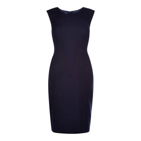 Hobbs London Navy Gabi Dress