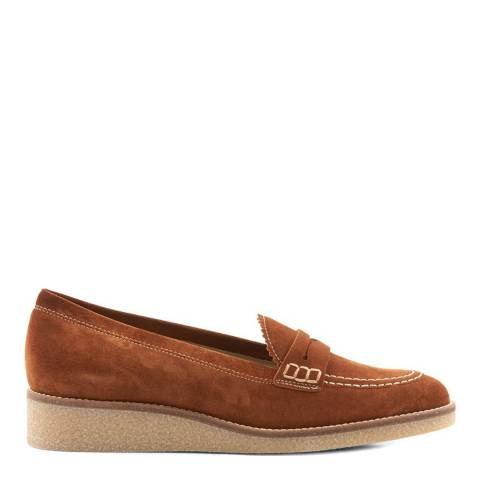 Hobbs London Tan Hattie Crepe Loafers