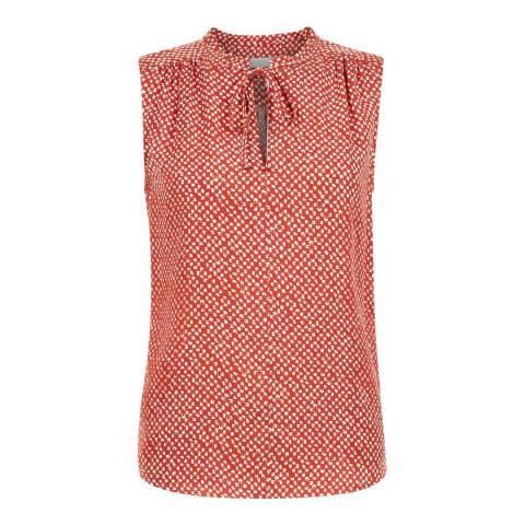 Hobbs London Cayenne Red/White Kate Blouse