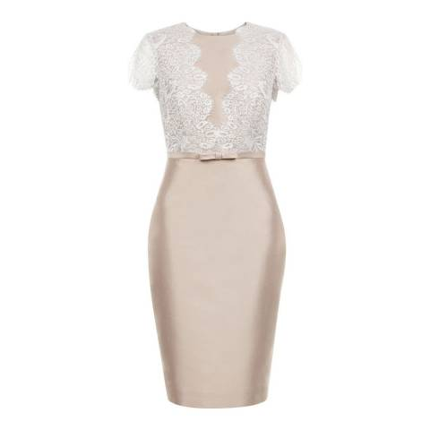 Hobbs London Oyster/Ivory Viv Dress