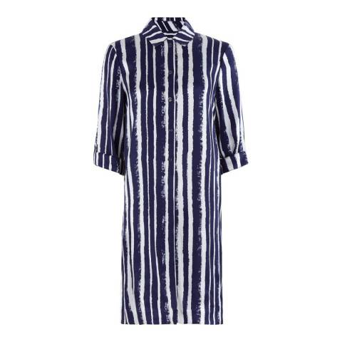Hobbs London Blueberry/Ivory Stripe Marcella Tunic Dress