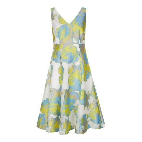 Hobbs London Ivory/Multi Taryn Dress