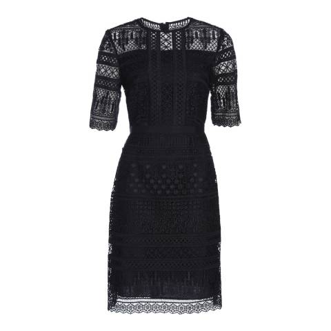 Hobbs London Navy Ellison Dress