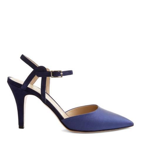 Hobbs London French Blue Fay Slingback Heeled Shoes