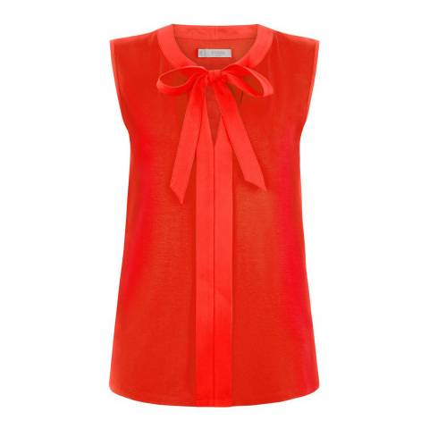Hobbs London Flame Orange Maisie Top