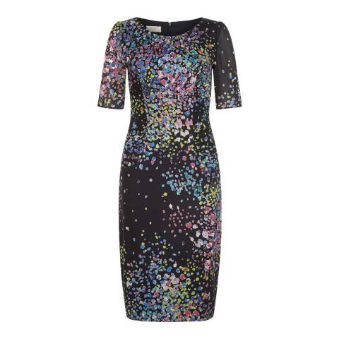 Hobbs London Navy/Multi Lauren Dress