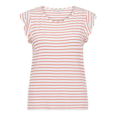 Hobbs London Sunkissed Orange/White Vanessa Tee