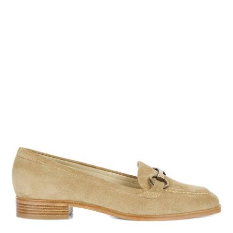 Hobbs London Sand Leather Monica Loafers