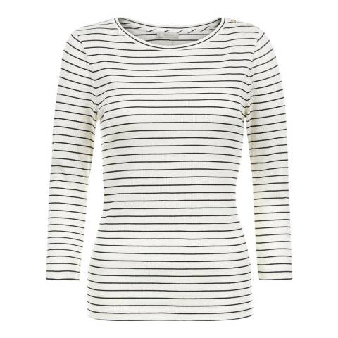 Hobbs London Ivory/Navy Stripe Alice Top