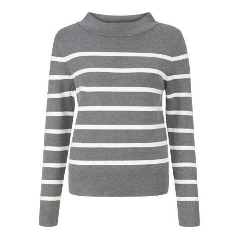 Hobbs London Dark Grey/Ivory Gloria Sweater