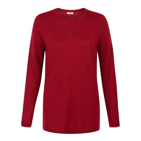 Hobbs London Cherry Red Cassidy Sweater
