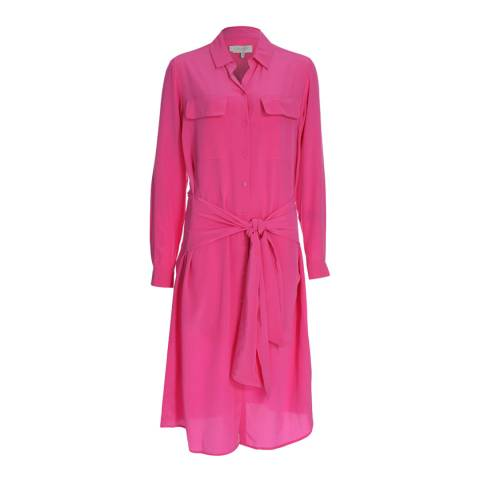 Hobbs London Peony Pink Silk Lucy Dress