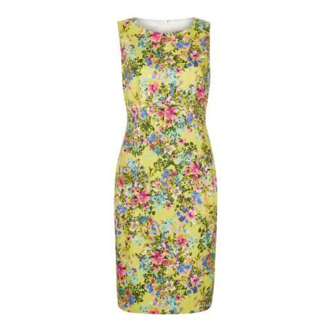 Hobbs London Yellow/Multi Fiona Dress