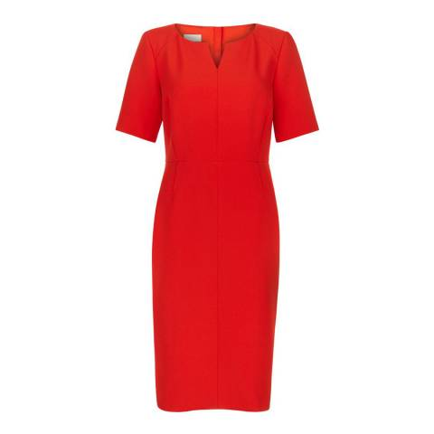 Hobbs London Flame Orange Wren Dress