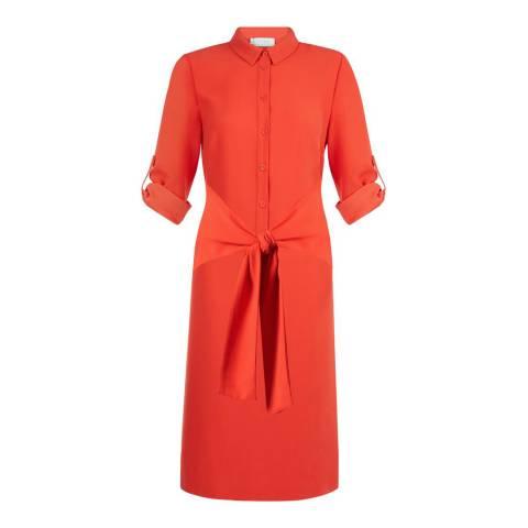 Hobbs London Flame Orange Savannah Dress