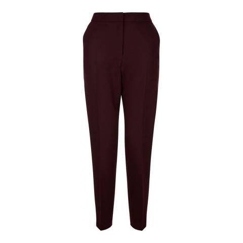 Hobbs London Burgundy Gael Trousers