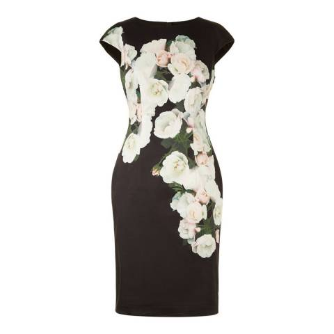 Hobbs London Black/Multi Eleanor Dress