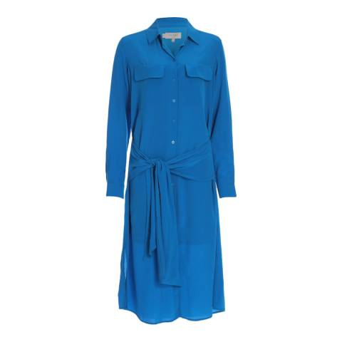 Hobbs London Azure Blue Silk Lucy Dress